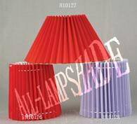 Simple pleated Hardback Lampshades .any size any color .