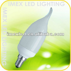 7W/9W mini tailed candle energy saving lamp cfl c37 candle lamp