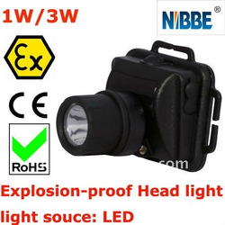 Explosion proof led headlight 1/3W