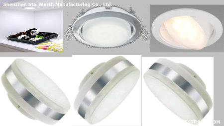 LED lighting , LED lamp cup GX53, 6 w, 80-100 lm/w, ra 70-85, 2700k-8000k