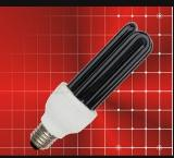 12V 3U15W UV CFL black lamp E27 E26