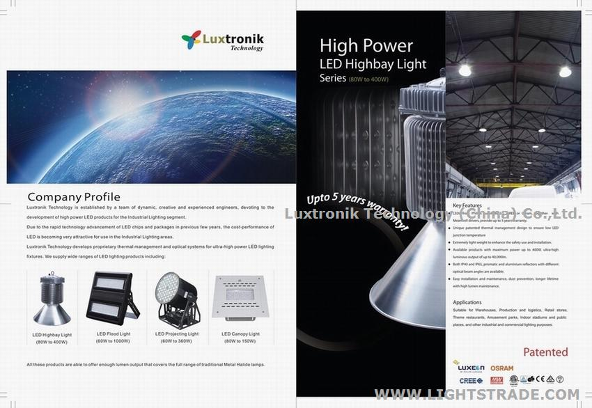 100W 150W 200W 250W 300W 350W 400W LED High Bay, Indoor lighting, IP40 or IP65