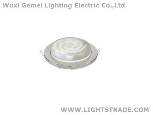 GX 53 Light Fixture Plastic GOLD WHITE CHROME