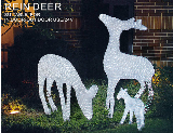 Granpo LED Christmas holiday decoration acrylic 3D deer animal light