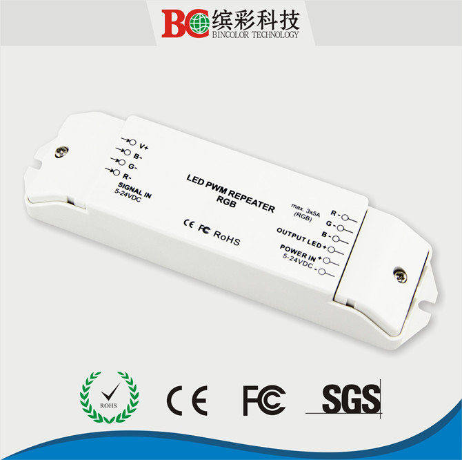 DC5-24v rgb led power repeater led amplifier 3ch