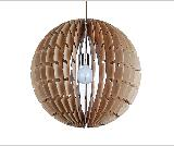 Pretty appearance round pendant light kinds of housing color wood pendant light