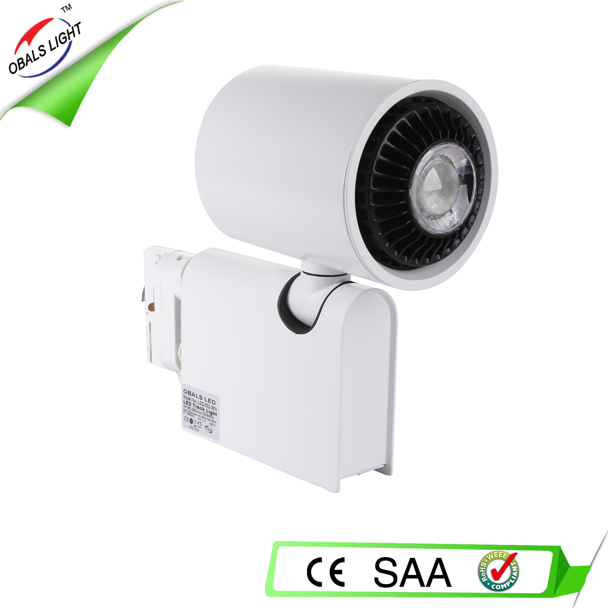38W LED track light with CE RoHS SAA approved