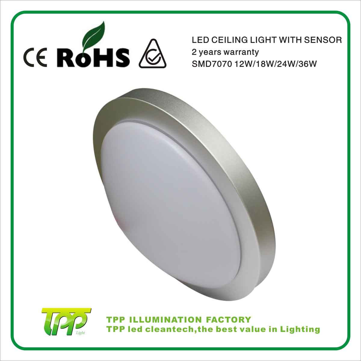 Aluminium LED Ceiling Lights CE approved