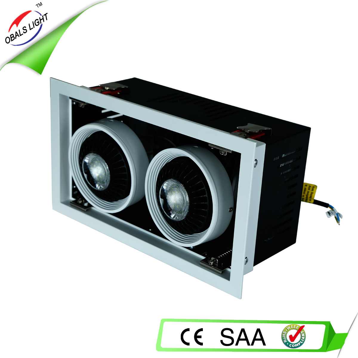 2x38W SMD Recessed Mounted led bean pot lamp with CE RoHS SAA approved