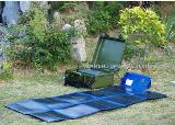 120W portable solar power system for military