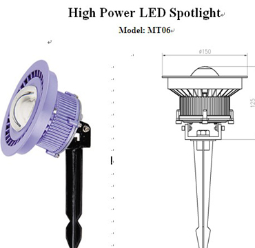 low power MT-06 LED spotlight for landscap lighting