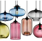 Modern Vintage Glass a Series of Shapes Pendant Light