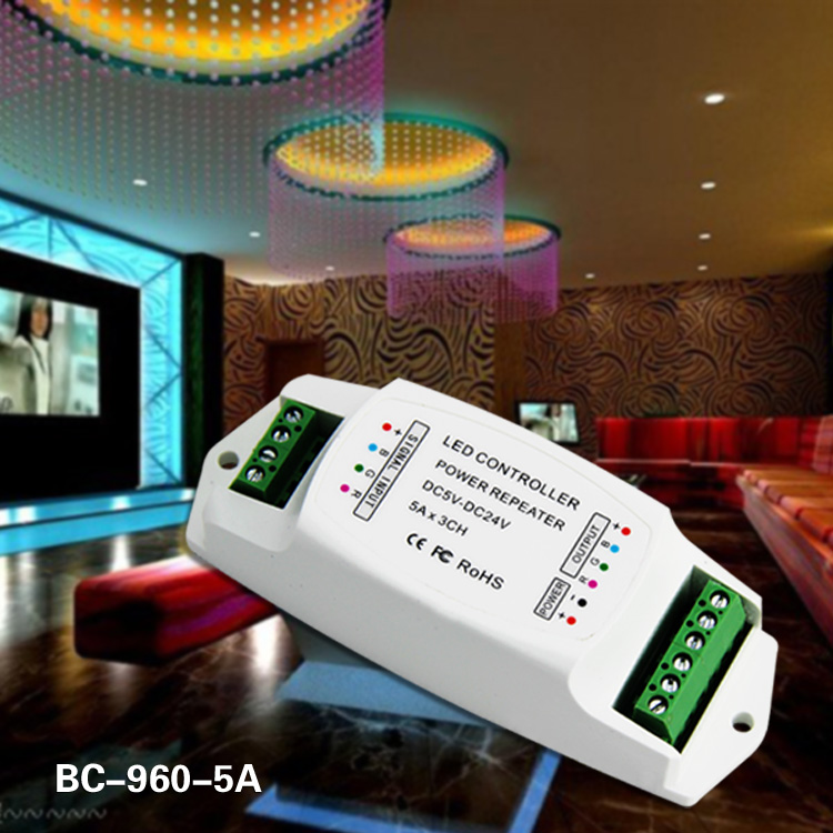 DC 5-24v 3ch led power repeater power amplifier
