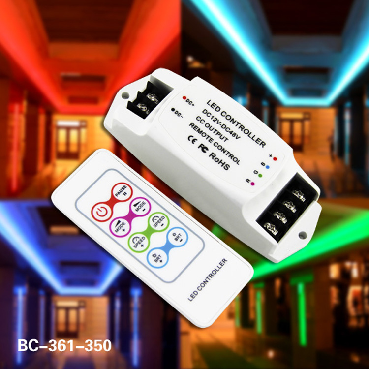 Constant current Multi-function rf RGB Controller 350ma