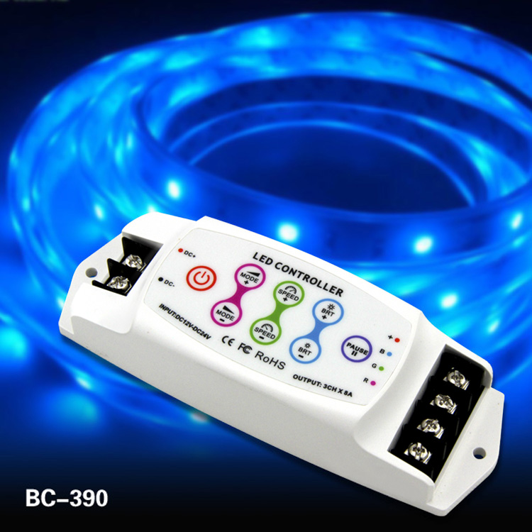 DC5-24v Constant voltage 8a led RGB controller