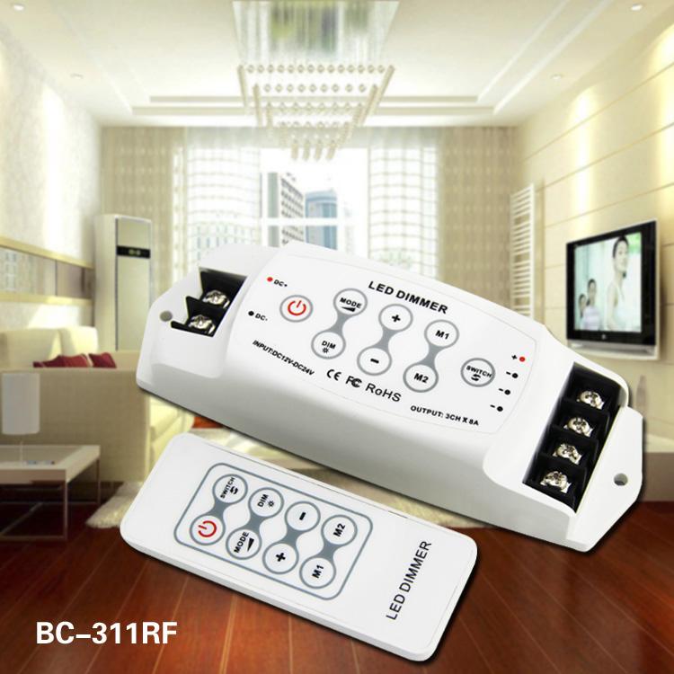 RF remote control pwm LED dimmer 3ch