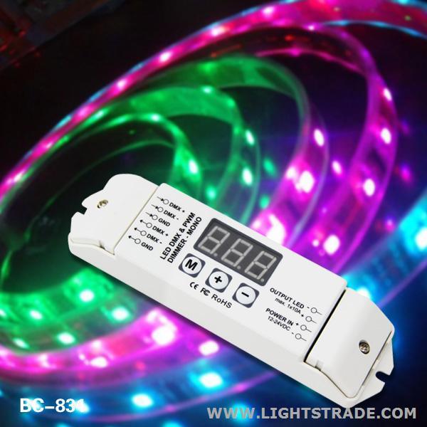 DC12V-24V 1 channel dmx512 decoder