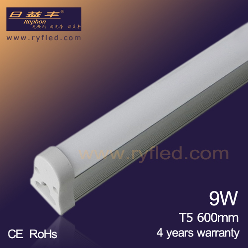 Long Lifetime 2ft 600mm 9W LED T5 Tube Light with 5 years warranty