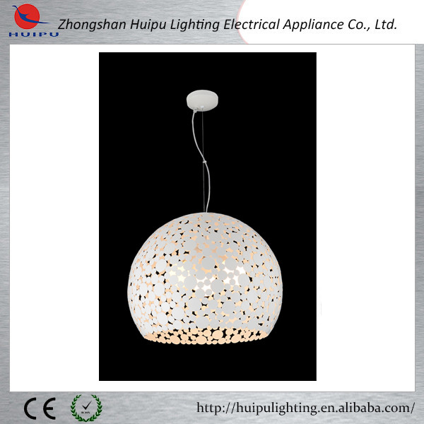 Modern hot sale round shape white iron pendant lamp