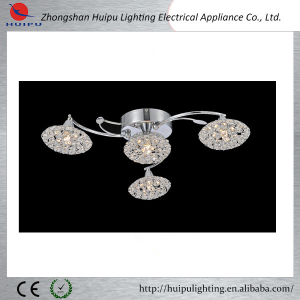 High quality control professional design crystal lampshade ceiling lamp