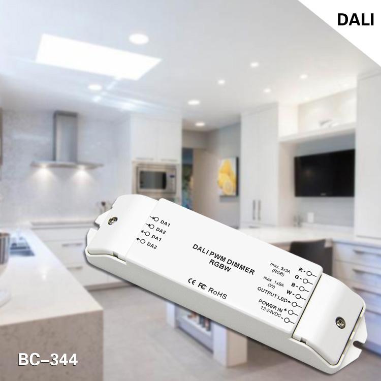 4 channels DC 12V-24V LED Dali dimmer driver RGBW 4ch