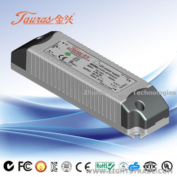 50Vdc 700mA Dimmable LED Driver for Lighting TJD-50700A023-1 tauras