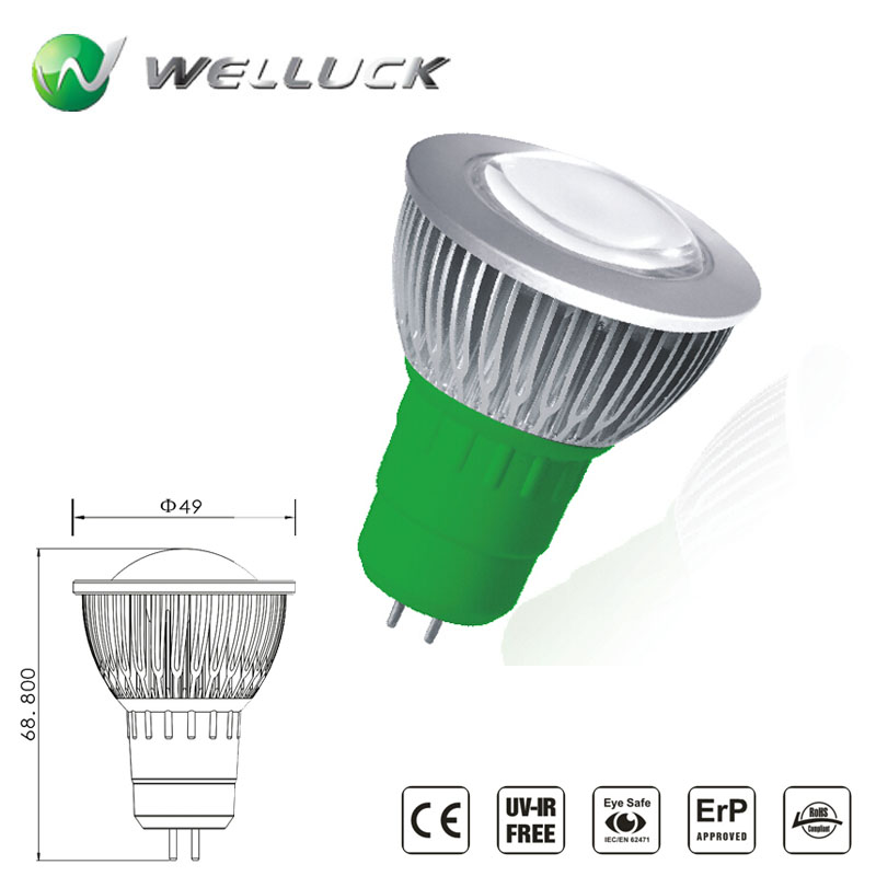 3W LED bulb GU53 COB lamp cup LED Spot light With CE&ROHS