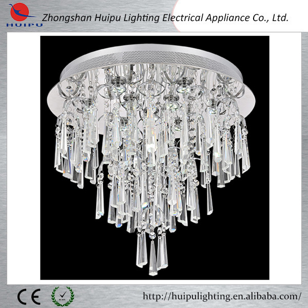 New product European style silver crystal ceiling lamp