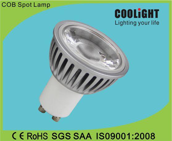 500lm 100-240V 3000-6000K CRI 80 PF 0.9 4/5/6W GU10 spotlight