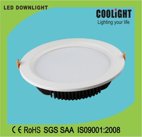 Cut size 210mm 100-240V 8inch 30W CRI 80 FP 0.9 round LED downlight