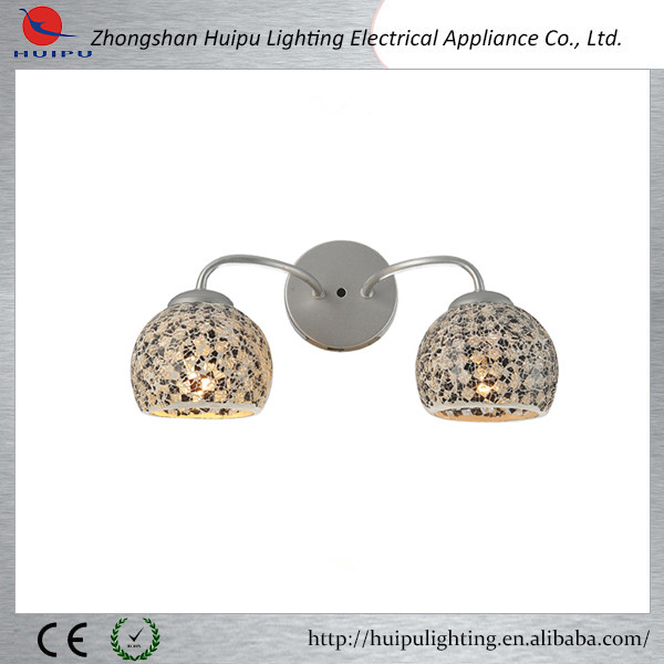 Modern mosaic glass shade wall light