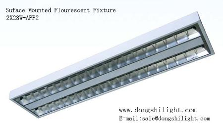 T5 Surface Mounted Louver Fitting In Fluorescent Fixture