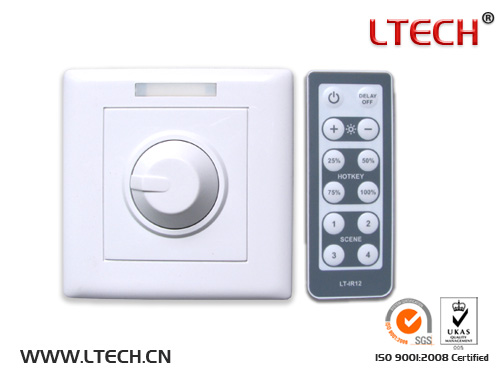 Wireless IR remote pwm switch LED dimmer LT-3200 series LT-3200-6A CV Dimmer -LED Intelligent Dimmer