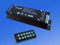 IR RGB LED controller and DMX512 decoder