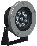 HEMLIGHTING LED Outdoor/underwater light,9*3W,CREE, OSRAM,Meanwell, import component