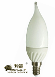 LED Candle Light (White Body,Milk Cover) 3W/1W