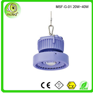 low power from 20W to 40W Die-Casting Aluminium high bay light
