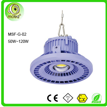 CE ROHS certificated 50w to 120w IP67 high bay lighting fixtures