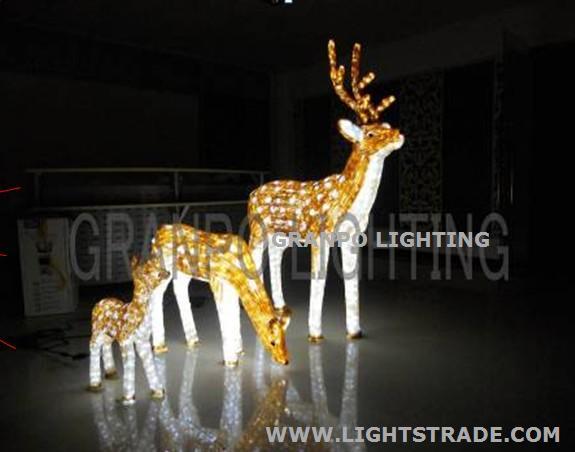 Christmas Lights Outdoor.Granpo Led Christmas Light Outdoor Decoration Ip44 3d Deer