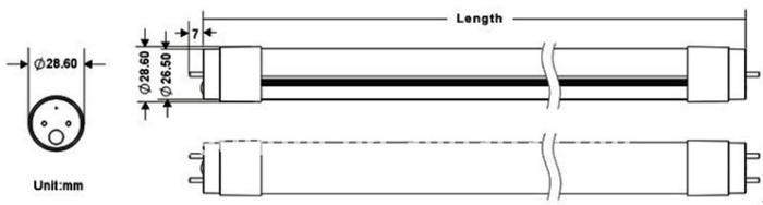 sensor led tube 1200mm18w