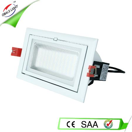 NEW! 20W rectangular led downlighting smd samsung chip SAA CE C-Tick