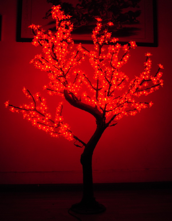 1.8m Best Seller Artificial Christmas led cherry tree ...