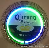 15-inch Neon Wall Clock,Bar Clock,novelty Wall Clock