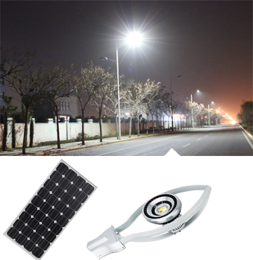 solar led street lighting with die-casting aluminum lamps