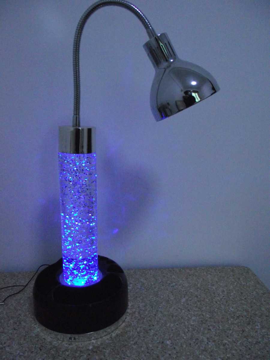 Led Table Lamp With Glitter Inside Base Suitable For Home