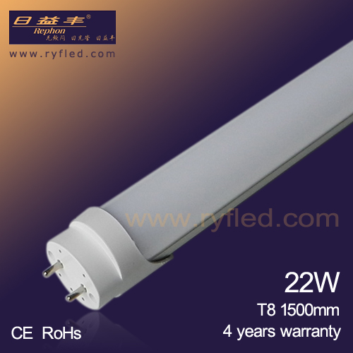 CE&ROHS 4 years warranty 1500mm 5ft 22w t8 enery saving led tube replace 38-44W