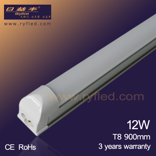 Good price SMD 2835 3ft 900mm 12W t8 integrated led tube light