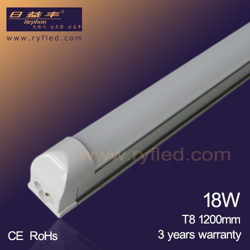 Hot sale Energy saving 18w t8 led tube light 1200mm with 3 years warranty