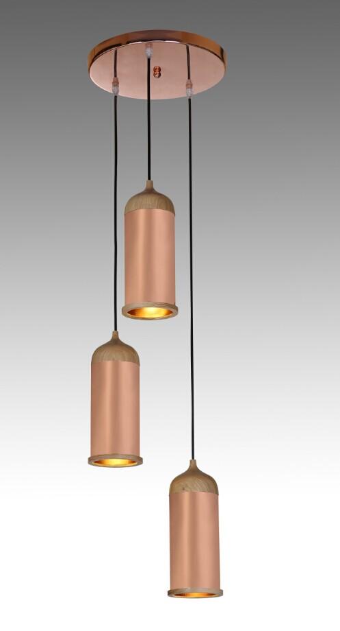 European Household Pendant Light Metal LED Red Ceiling Lamp