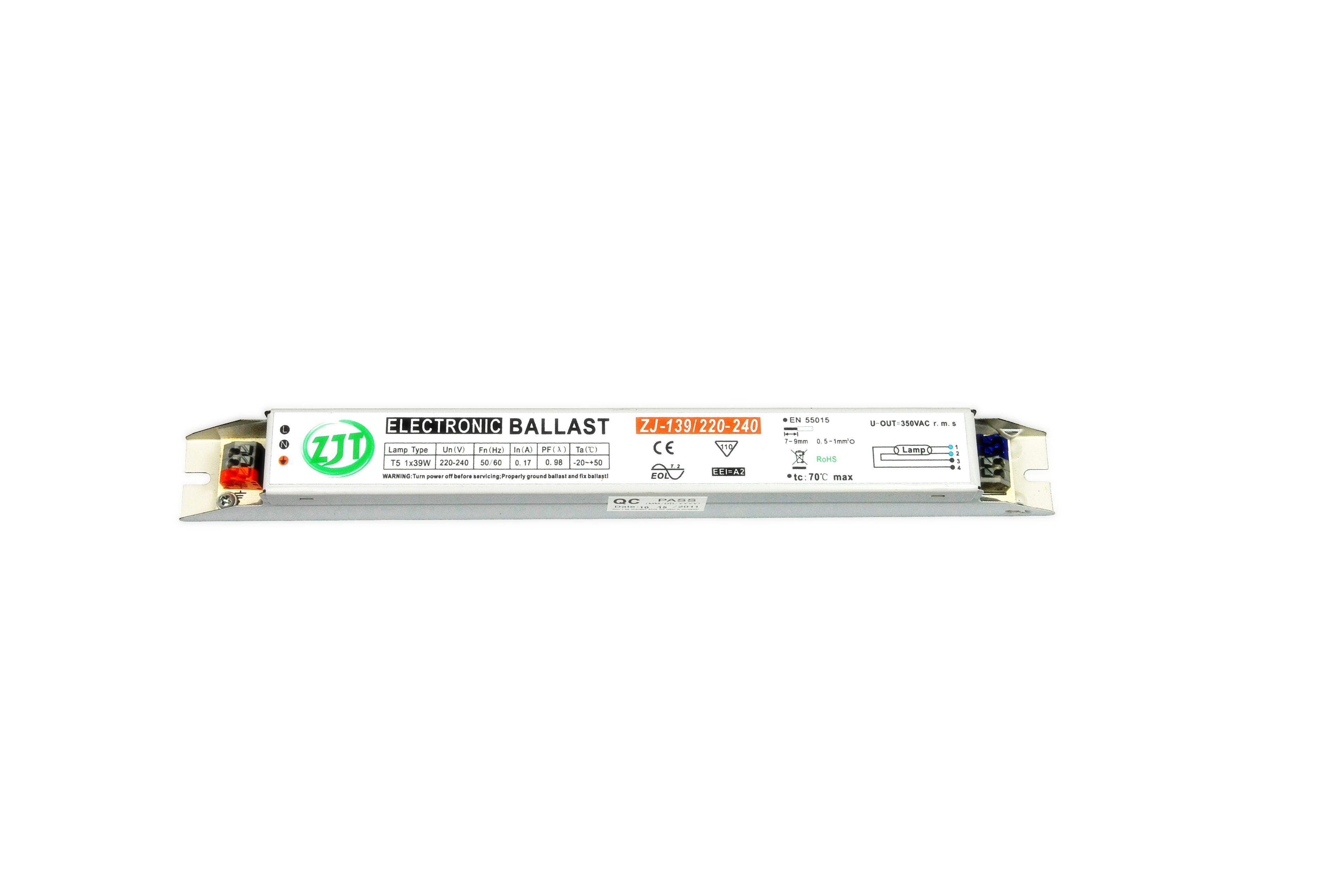 T5 1x39w Electronic Ballast With Tuv Ce Cb Saa Rohs Emc Certificate